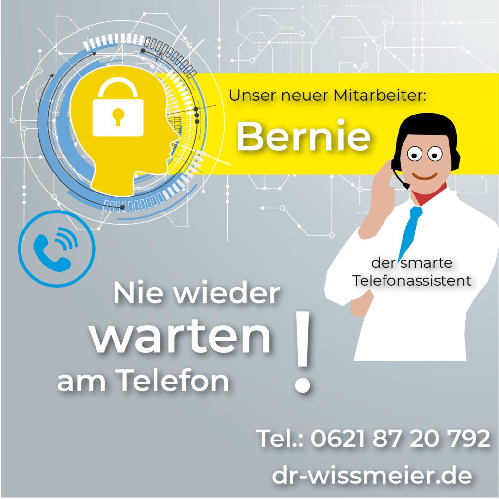 Unser neuer Mitarbeiter: Der Telefonassistent Bernie.
